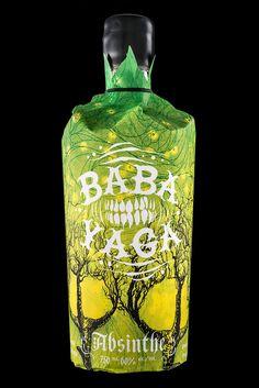 Baba Yaga Absinthe, for Arbutus Distillery #baba #packaging #illustration #absinthe #yaga