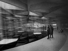 Scrapbook #installation #madrid #wilson #light #architecture #keir #dark #plaza #student