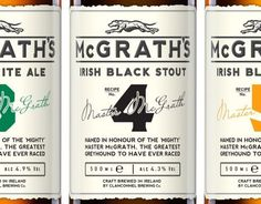 McGrath's Premium Ales #packaging #beer #label #bottle