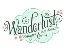 Dribbble - Wanderlust Logo by Mary Kate McDevitt #logo #lettering #typography