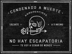 DETHJUNKIE* #spanish #skull #blackwhite #text