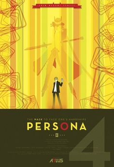Persona 4 Art Print by Phil Giarrusso | Society6 #illustration #vector #gaming