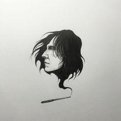"""Severus Snape fan art """"""""Always!"""""""""""
