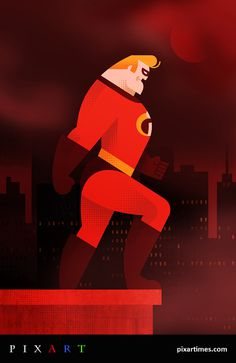Mr Incredible #luke #incredibles #the #illustration #bott #pixar