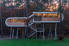 CJWHO ™ (A special kind of tree house by Nimbus Group) #design #treehouse #wood #photography #architecture