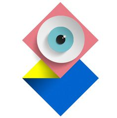 Eye For Detail | Kommigraphics #icon #pink #yellow #eye #blue #kommigraphics #pastel