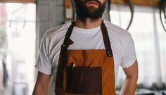 Raw Canvas & Leather Apron by JM & Sons #tech #flow #gadget #gift #ideas #cool