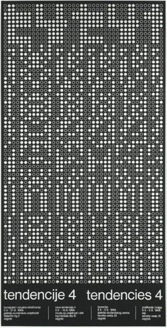 doraballa-ommo: TTendency 4, Computer and Visual Research 1968 #computer #60s #retro #art #poster #dot