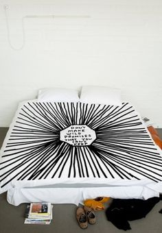 David Shrigley Queen Size Duvet - David Shrigley- Shop - Third Drawer Down #design #graphic #bed #white