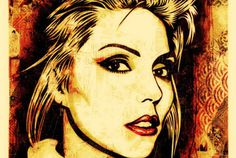 http://streetgiant.com/files/shepard_fairey_blondie_print.jpg #harry #portrairt #fairey #debbie #shepard
