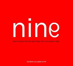 Paul Vickers : Design Thinking #nine #red #number #2009