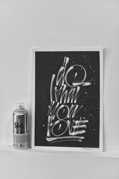 Do What You Love by Joan Quirós #calligraphy #print #brushpen #brush