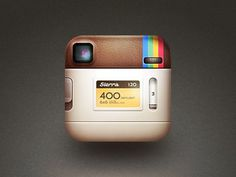 Dribbble - the back of the instagram icon. by Cole Rise #instagram #icon #ios #back #android #logo