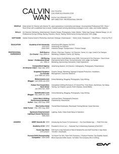 Calvin Wan Web Resume 2013