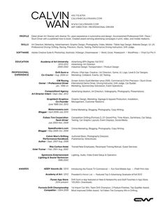 Calvin Wan Web Resume 2013 #cv #designer #resume