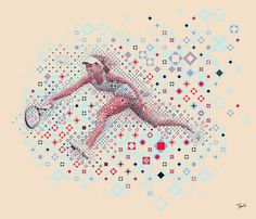 Tennis: Ana Ivanovic #illustration #photoshop #filter