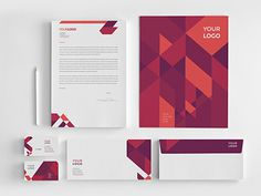 Modern Red Blue Stationery.  Download here: http://graphicriver.net/item/modern-red-blue-stationery/7875905?ref=abradesign