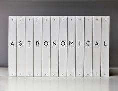 Astronomical, The Solar System Represented Across 6000 Pages #books #covers #series #minimal #typography