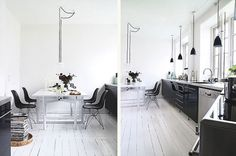 Graphic-ExchanGE - a selection of graphic projects #design #white #black #interioir #dining room