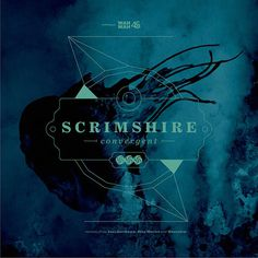 "Scrimshire ""Convergent"" #design #graphic #texture #cover #record #logo #layout #typography"