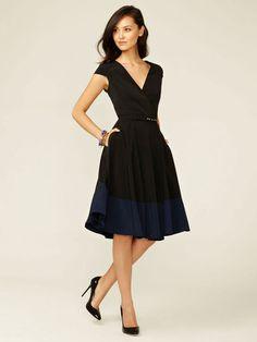 Alex + Alex Cap Sleeve Wrap Dress #fashion #dress