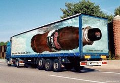 Creative Coca cola Truck Advertisement idea