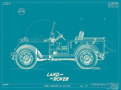 { i n s p i r a r e } #blueprint #technical #landrover #drawing