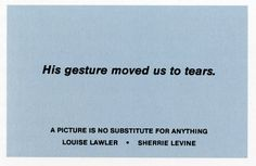 Louise Lawler, Sherrie Levine