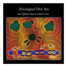 Aboriginals Camp by Waterhole Print #prints