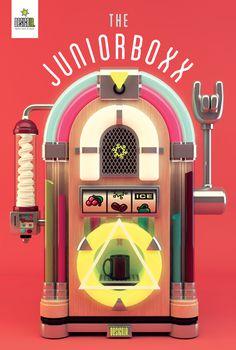 The Juniorboxx on Behance #3d #jukebox