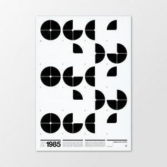 1985.1 | Poster #graphic design #typography #poster #swiss #minimalism