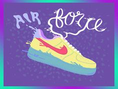 Air Force 1 #melted #airforce1 #air #nike #illustration #colorful #af1 #sneakers #swoosh