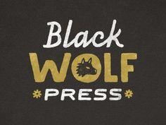 Dribbble - black wolf press by Gerren Lamson