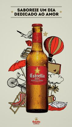 Estrella Damm poster #design #graphic #advertising #illustration #poster