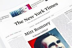 Proposta de novo design para o The New York Times #times #thenewyorktimes #jornal #design #graphic #newspaper #york #editorial #new