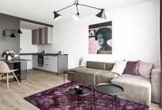 Small Studio Apartment With Feminine Design - InteriorZine #decor #interior #home