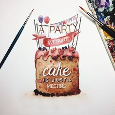 #cake #watercolor