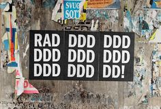 RAD by Studio Mjölk #graphic design #black and white #print
