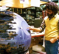George Lucas on the set of Star Wars: Episode VI - The Return of the Jed.