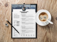 Free Clean Timeline Resume Template with Three Colors Option