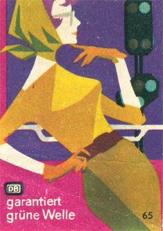 German matchbox label | Flickr - Photo Sharing! #matchbox #woman #geometric #label #illustration