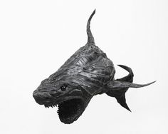Ferocious Animal Sculptures made from Tires #sculpture #yong #ho #ji #art #animal #tires