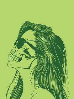 Skull Girls (pt.1) on Behance #skull #girls #illustration