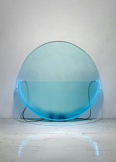 Keith Sonnier, Â Lit Circle Blue #acrylic #design #art #object #lighting