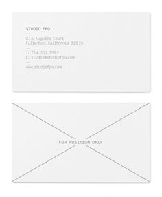 Corey Holms - Studio FPO #business #card #design #graphic #identity
