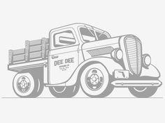 Dribbble - Truck II by Kendrick Kidd #kendrick #illustration #kidd