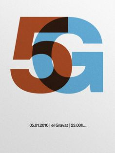 5G Poster /05.01.10 — marindsgn by Quim Marin #print #design #poster #typography