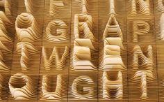 Alphabet Topography #typography #type #topography