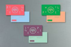 Teatro Circo Price on the Behance Network #branding #business card #geometric #colorful #typographic #theater