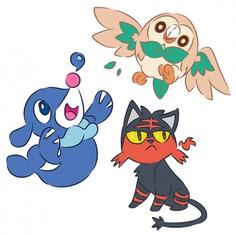 Pokemon Sun & Moon Gen-7 Starters